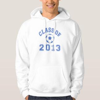 Klasse des Fußballs 2013 - blau/Weiß 2 Hoodie