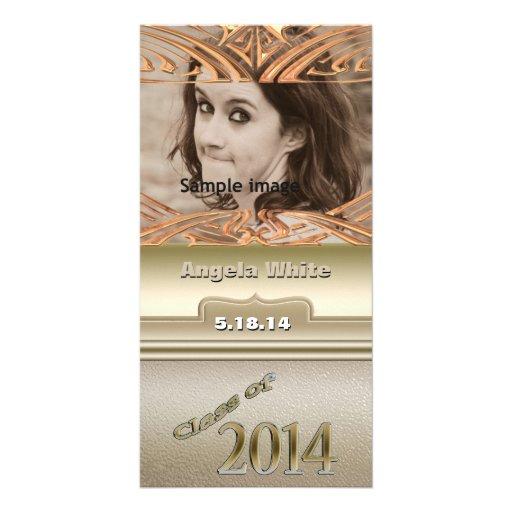 Klasse Goldpersonalisierten Abschluss-Fotos 2014 Photokartenvorlagen
