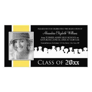 Klasse [JAHR] der Abschluss-Mitteilung: Gelb Photo Grußkarte