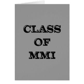Klasse von 2001 mitteilungskarte