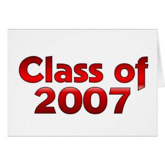 Klasse von 2007 rot und weiß karte