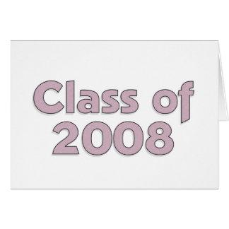 Klasse von 2008 - lila Karte