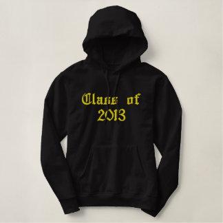 Klasse von 2013 - Schwarzes und Gelb Bestickter Hoodie