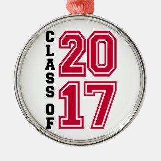 Klasse von 2017 silbernes ornament