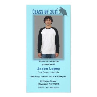 Klasse von Abschluss-Foto-Karten-Blau-Schatten 201 Photokarten