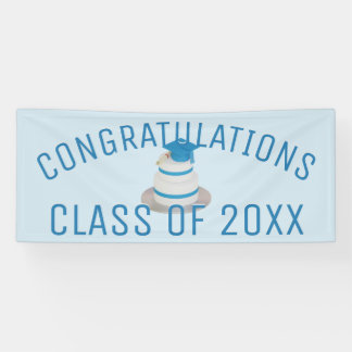 Klassen-Abschluss-Kuchen-Glückwunsch-Fahne Banner