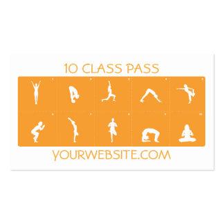 Klassen-Durchlauf der Yoga-Visitenkarte-10 Visitenkarten