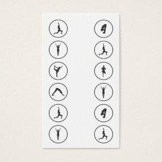 Klassen-Durchlauf der Yoga-Visitenkarte-12 Visitenkarten