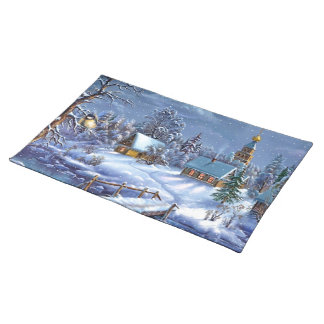 Klassiker, schönes Vintages Weihnachtsbild Tischset