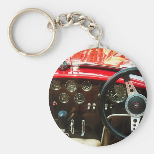 Klassische Auto-BH-Kobra Standard Runder Schlüsselanhänger