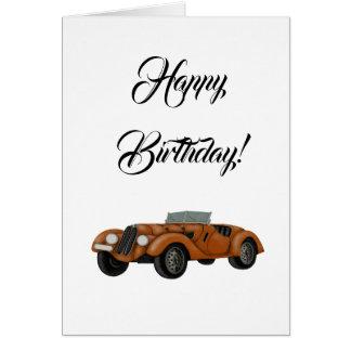 Klassische Auto-Geburtstags-Karte Karte