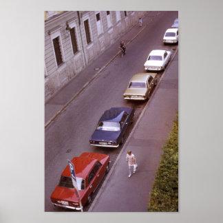 Klassische Autos, britische bunte Poster