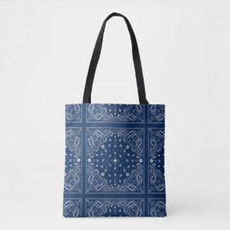 Klassische blaue Bandana-Taschen-Tasche Tasche