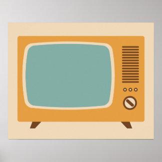 Klassische FernsehSet-Grafik Poster