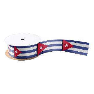 Klassische Flagge von Kuba Satinband