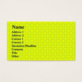 Klassische gelbe und tadellose grüne Visitenkarte