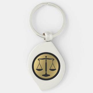 Klassische goldene Skalen von Gerechtigkeit Schlüsselanhänger