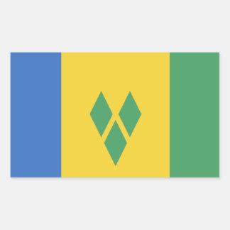 Klassische Heiliges Vincent-Flagge Rechteckiger Aufkleber