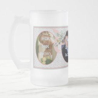 Klassische Hochzeits-Erinnerungens-mattierte Glasg Teehaferl