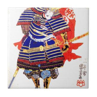 Klassische japanische Samurai-Kunst Japan Keramikfliese