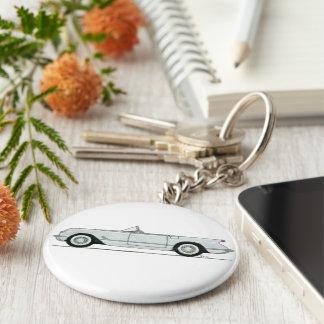 Klassische Korvette Keychain Standard Runder Schlüsselanhänger