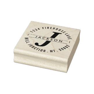 Klassische Kreis-Rücksendeadresse-Briefmarke mit Gummistempel