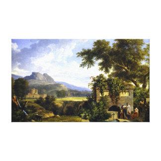 Klassische Landschaft Pierre-Henri Des Leinwanddruck
