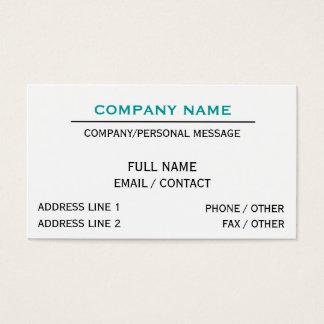 Klassische Linie - Weiß Visitenkarte