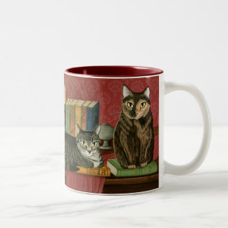 Klassische literarische Heizer-Kunst-Tasse Zweifarbige Tasse