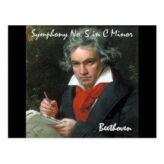 Klassische Meisterwerk-Sammlung Beethovens Postkarte