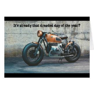 Klassische Motorrad-Geburtstags-Karte Karte