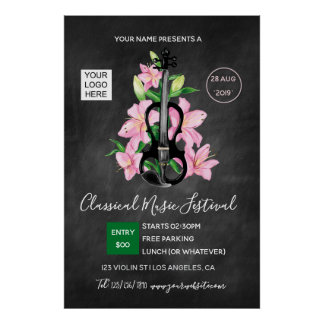 Klassische Musik-Festival-Tafel Poster