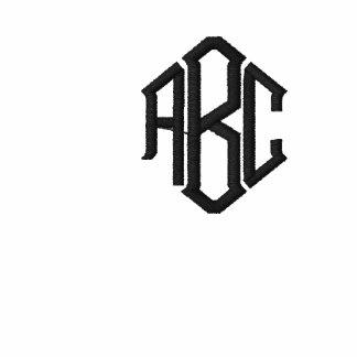 Klassische Polo-Hemd-rote Monogramm-Schablone