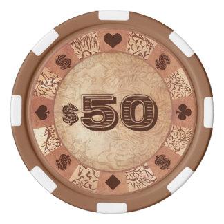 Klassische retro orientalische Vintage Poker Chip Set