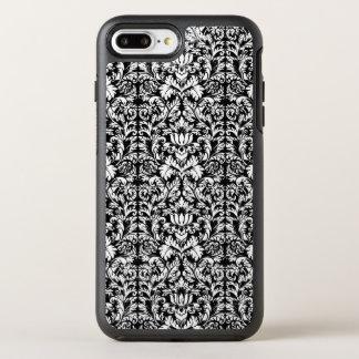 Klassische Rokoko-gotischer schwarzer Damast Noir OtterBox Symmetry iPhone 7 Plus Hülle
