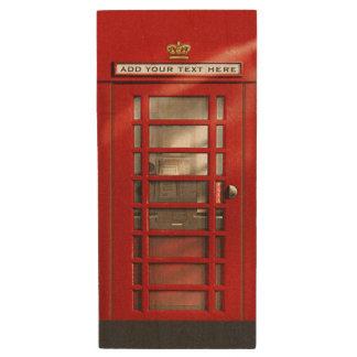 Klassische rote britische Telefonzelle Holz USB Stick