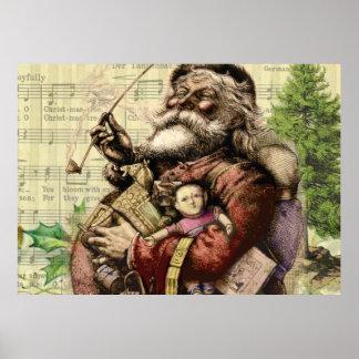 Klassische Sankt-Illustration Poster