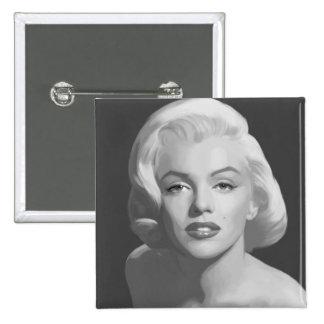 Klassische Schönheit 4 Quadratischer Button 5,1 Cm