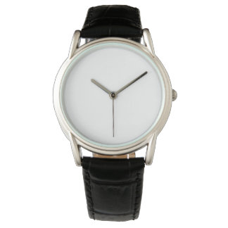 Klassische schwarze der Lederband-Uhr der Männer Armbanduhr