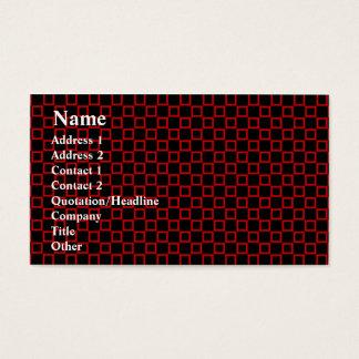 Klassische schwarze und rote Visitenkarte