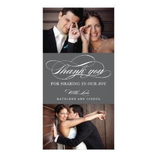 Klassische Skript-Hochzeit danken Ihnen Photo Karte