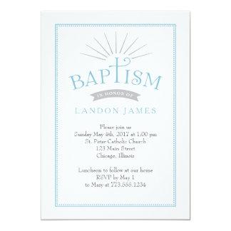 Klassische Strahlen-Taufe-Einladung 12,7 X 17,8 Cm Einladungskarte