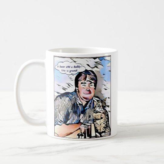 Klassische Tasse Kaffee Dan- u. Freund-Cartoon