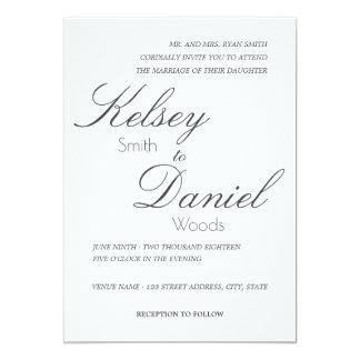 Klassische u. romantische | Wedding Einladung