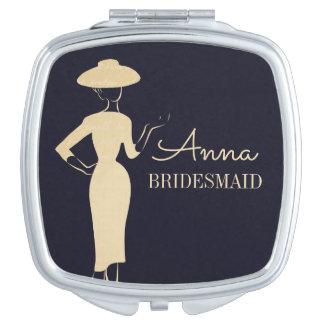 Klassische Vintage Mode-bräutlicher kompakter Taschenspiegel