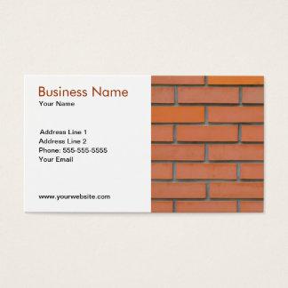 Klassische Wand-Gebäude-Industrie Visitenkarte