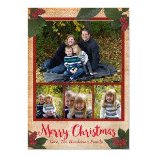 Klassische Weihnachtsbeeren-12x18 Karte