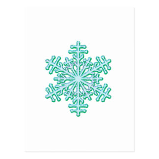 Klassische Weihnachtswinter-Schneeflocke Postkarte