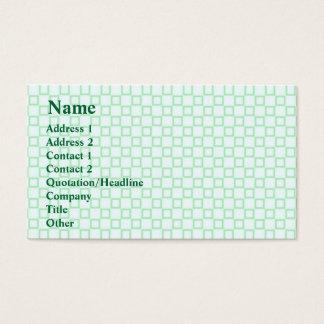Klassische weiße und tadellose grüne Visitenkarte
