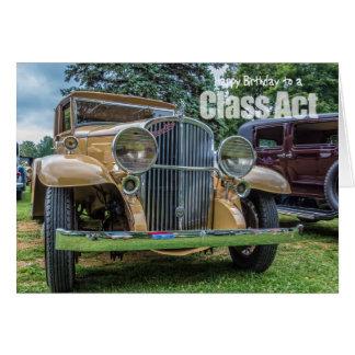 Klassischer Auto-Geburtstag 1932 Franklins Karte